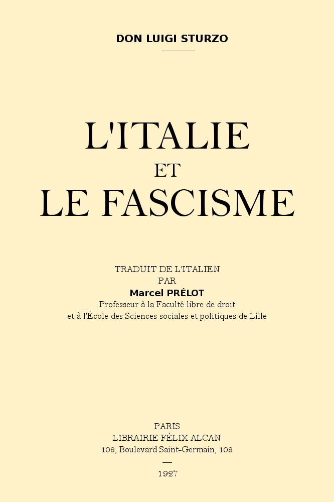 L'Italie et le fascisme