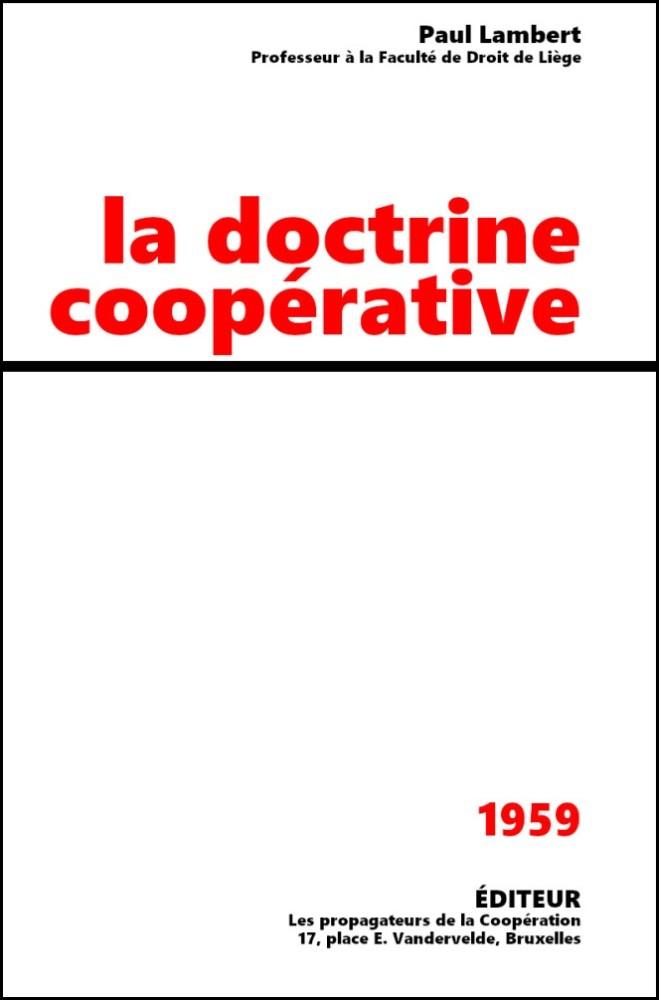 La doctrine coopérative
